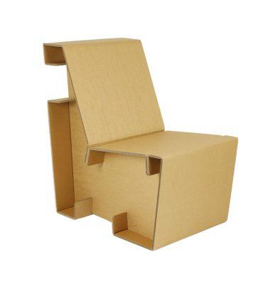Ekologiczny fotel z tektury - meble z tektury