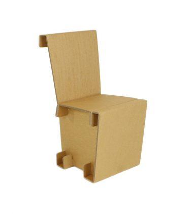 Ekologiczne krzesło z tektury - meble z tektury